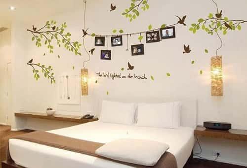 1 7373 - Vẽ tranh tường phòng ngủ đẹp