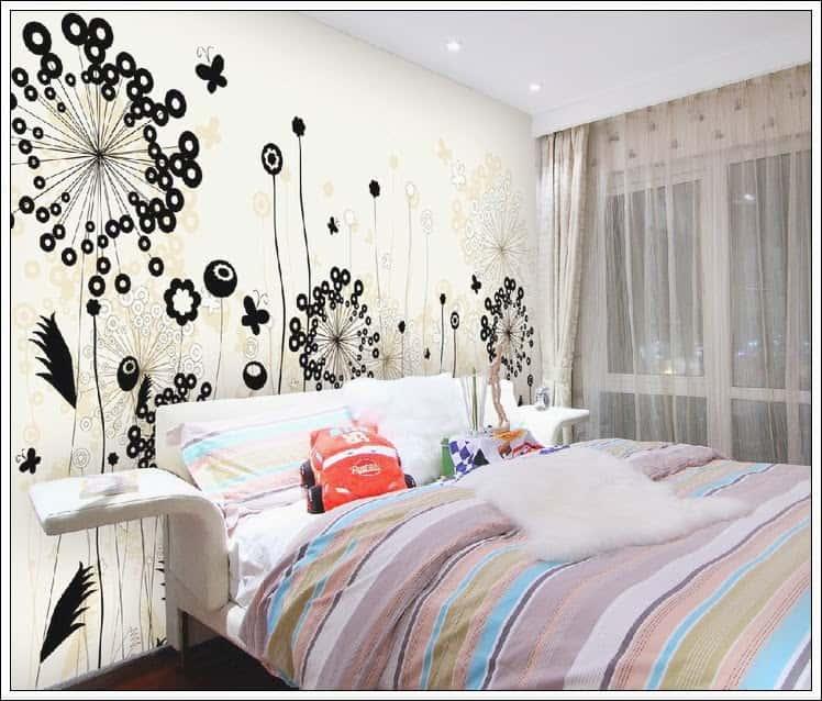 2 28 1 - Vẽ tranh tường phòng ngủ đẹp