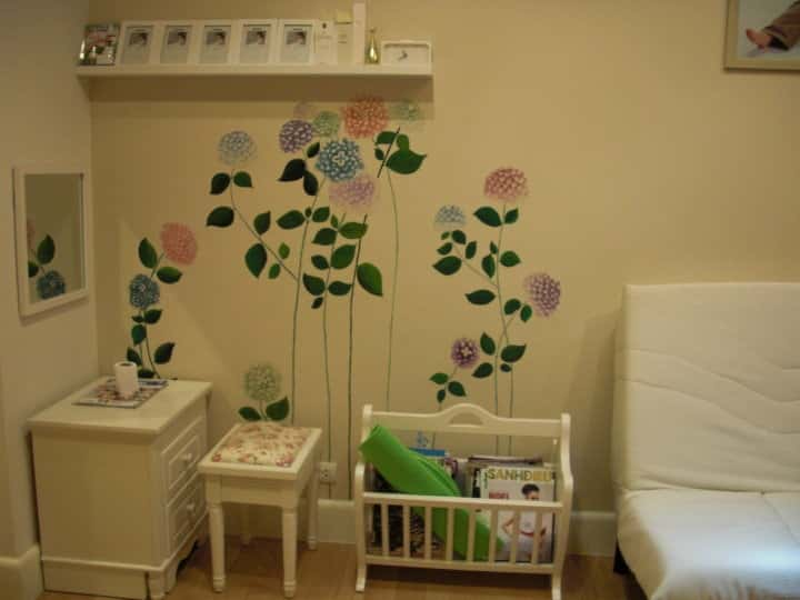 476 - Vẽ tranh tường phòng ngủ đẹp