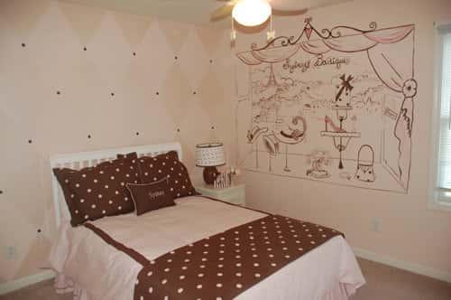 91 - Vẽ tranh tường phòng ngủ đẹp ấn tượng