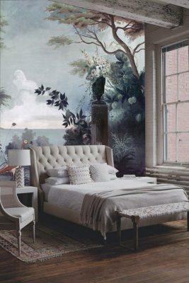 Cách vẽ tranh tường phòng ngủ đẹp vẽ trang trí phòng ngủ 267x400 - vẽ tranh tường phòng ngủ
