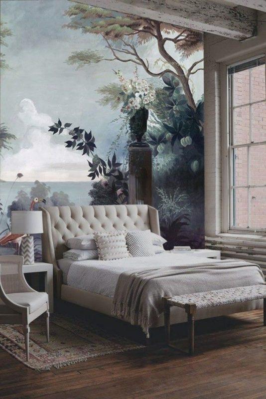 Cách vẽ tranh tường phòng ngủ đẹp vẽ trang trí phòng ngủ 534x800 - Hoạ sĩ vẽ tranh tường phòng ngủ đẹp chuyên nghiệp