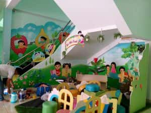 tranh tuong mam non 5 300x225 - Dịch vụ Vẽ tranh tường Mầm Non
