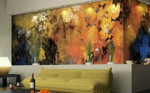 Những mẫu tranh tường phòng khách đẹp
