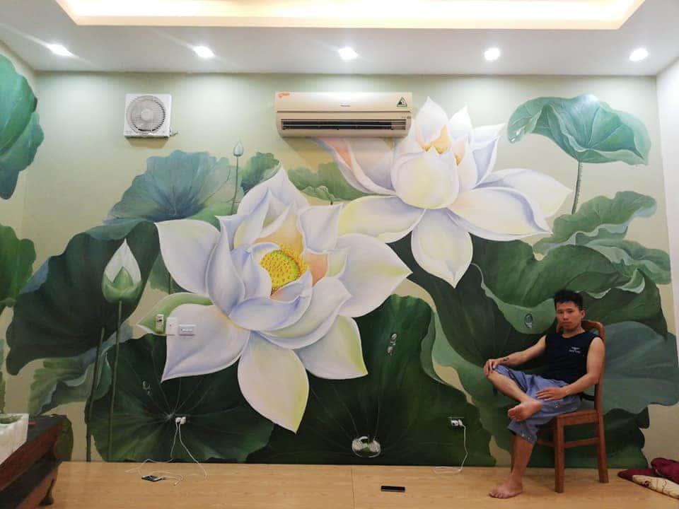 ve tranh tuong dep 35 - Vẽ tranh tường phòng ngủ đẹp
