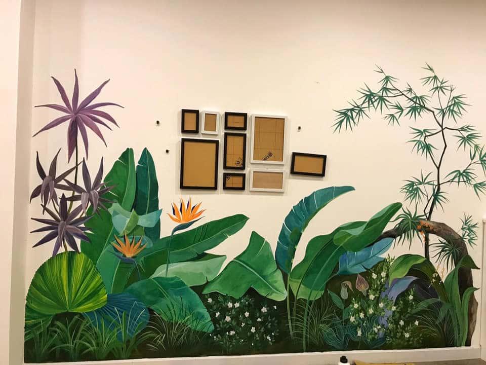 ve tranh tuong dep 41 - Vẽ tranh tường phòng ngủ đẹp