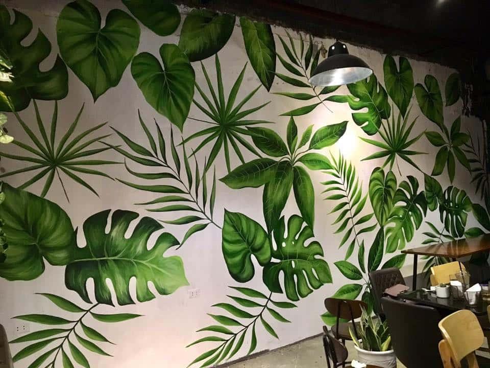 ve tranh tuong dep 44 - Vẽ tranh tường phòng khách đẹp