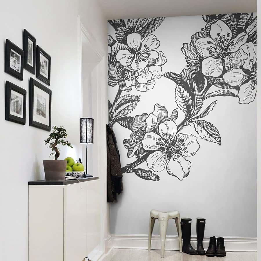 ve tranh tuong mau - Vẽ tranh tường phòng ngủ đẹp
