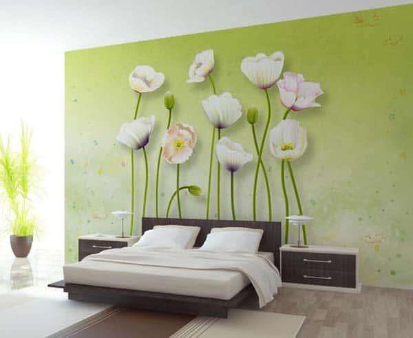 ve tranh tuong phong ngu 6 - vẽ tranh tường phòng ngủ