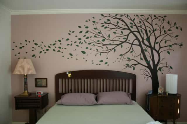 ve tranh tuong phong ngu - vẽ tranh tường phòng ngủ