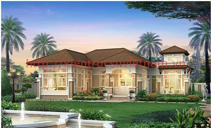 5 1 - Thiết kế nhà mái thái đẹp