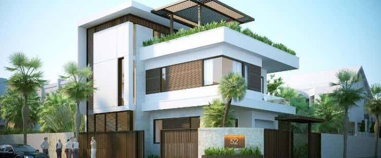 mẫu biệt thự 3 tầng đẹp mang phong cách hiện đại
