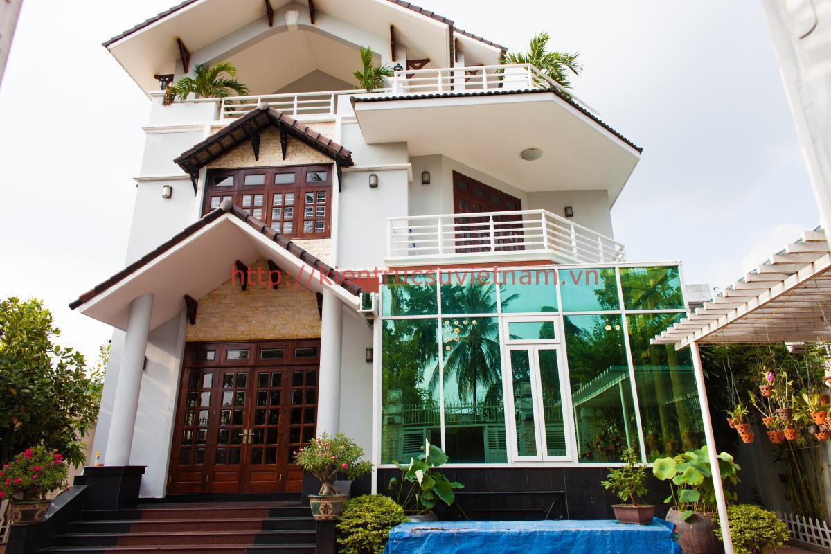 Mẫu nhà 3 tầng đẹp kientrucsuvietnam.vn  - Thiết kế nhà 3 tầng đẹp