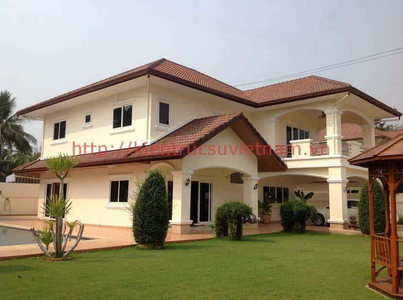 Thailand Pattaya Property House for Sale Rent9585 - Thiết kế nhà mái thái đẹp