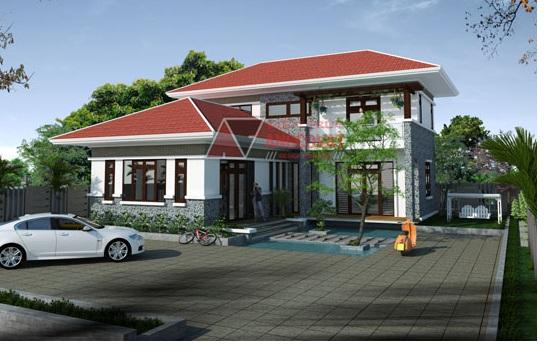 Thiet ke nha nhà 2 tầng diện tích 100m2u 2 tang dien tich 100m2 PC1 - Thiết kế nhà 2 tầng đẹp