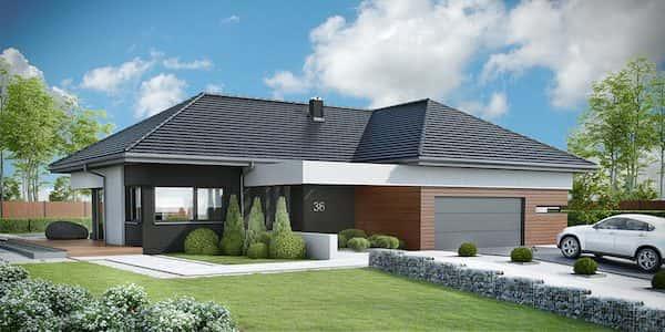 Thiết kế nhà một tầng trên diện tích đất 14 x 20 m