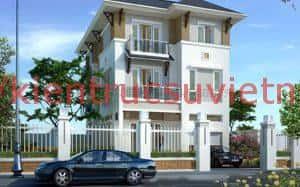 biet thu 3 tang dep 007 300x187 - Tư vấn mẫu thiết kế biệt thự 3 tầng đẹp mặt tiền 9m