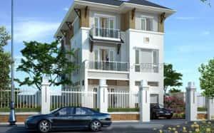 biet thu 3 tang dep 0071 300x187 - Tư vấn mẫu thiết kế biệt thự 3 tầng đẹp mặt tiền 9m