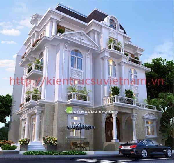 biet thu chau au 1 - Thiết kế nhà đẹp Vĩnh Long