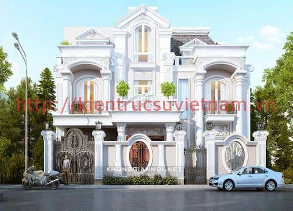 biet thu chau au 3 - Thiết kế nhà đẹp Vĩnh Long