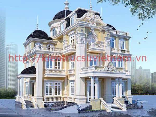 biet thu chau au - Thiết kế biệt thự cổ điển đẹp