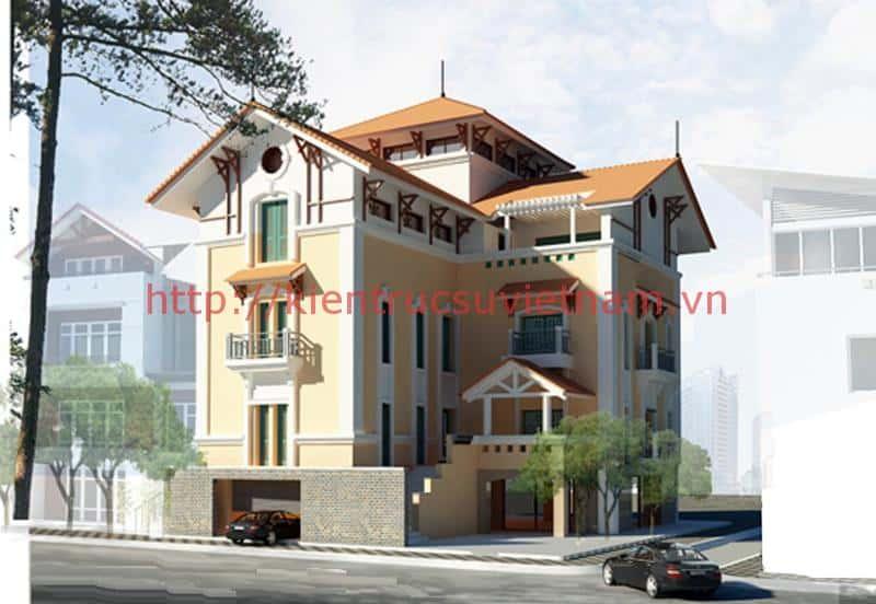 biet thu pho dep 1 - Tư vấn mẫu thiết kế biệt thự đẹp ở Đà Nẵng