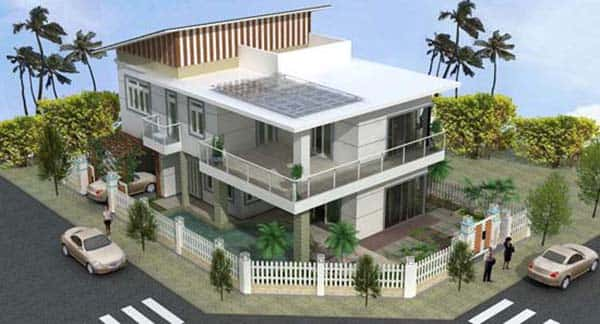 biet thu1 - Thiết kế biệt thự hiện đại