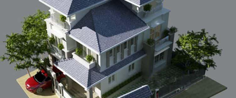 Bộ sưu tập mẫu thiết kế biệt thự mái thái đẹp