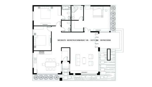 mat bang e1471545349451 - Thiết kế nhà 1 tầng đẹp