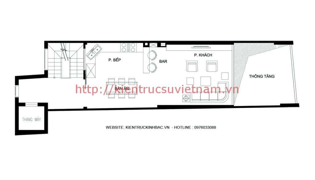 mat bang tang lung - Thiết kế nhà 5 tầng đẹp