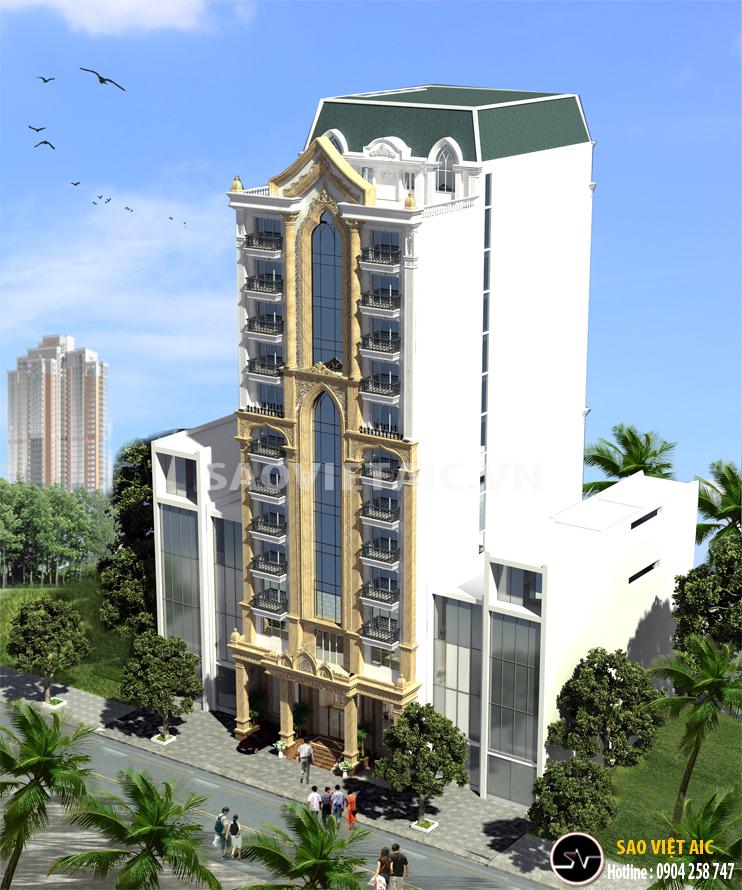 mau khach san dep 2 sao Thiết kế kiến trúc khách sạn Hà Nội Vientiane 2 - Thiết kế khách sạn 2 sao