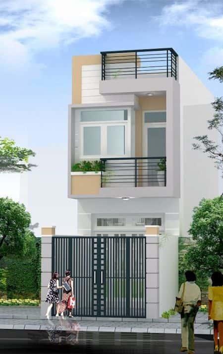 mau nha 1 tret 1 lau dep b - Mẫu thiết kế nhà 1.5 tỷ đẹp