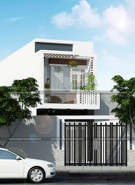 mau nha 1 tret 1 lau dep e - Mẫu thiết kế nhà 1 tỷ đẹp