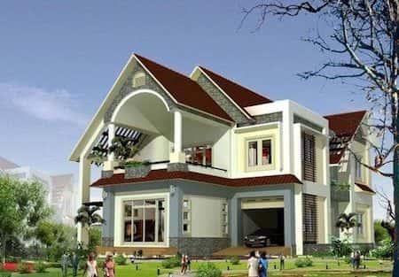 chi phí xây nhà 2 tầng ở nông thôn