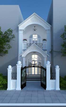 mau nha 2 tang 4 2 e1503922456802 - 25 Bản thiết kế nhà ống 2 tầng đẹp tối ưu công năng miễn phí