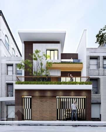 mau nha 2 tang 6 1 e1503922416592 - Thiết kế nhà ống 2 tầng 3 phòng ngủ đẹp