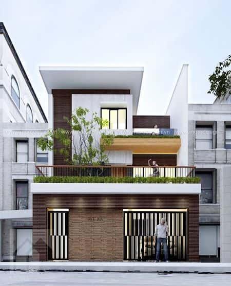 mau nha 2 tang 6 - Thiết kế nhà 2 tầng đẹp
