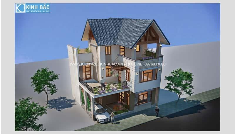 mau nha dep 2 tang G3 - Thiết kế nhà 2 tầng đẹp