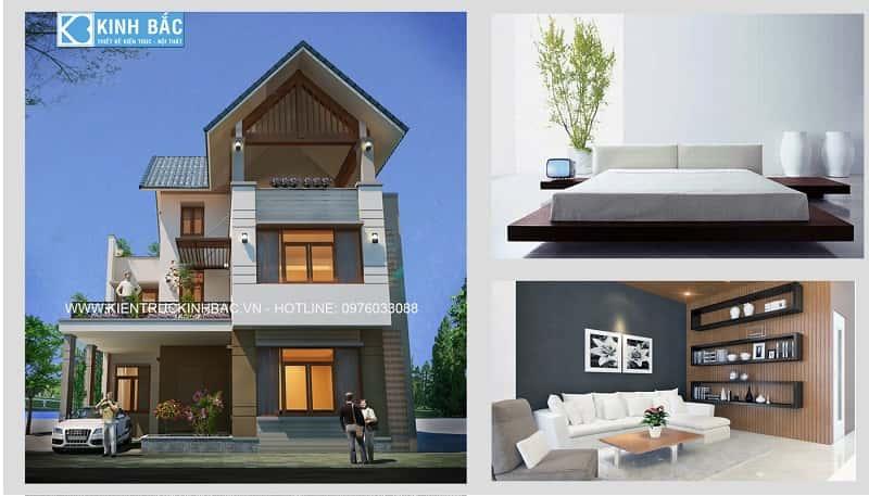 mau nha dep 2 tang G5 - Thiết kế nhà 2 tầng đẹp