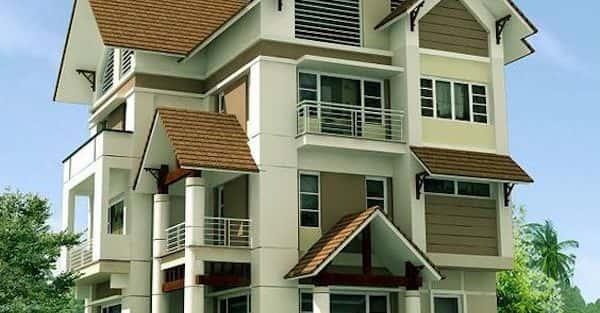 Xây nhà 3 tầng mái thái