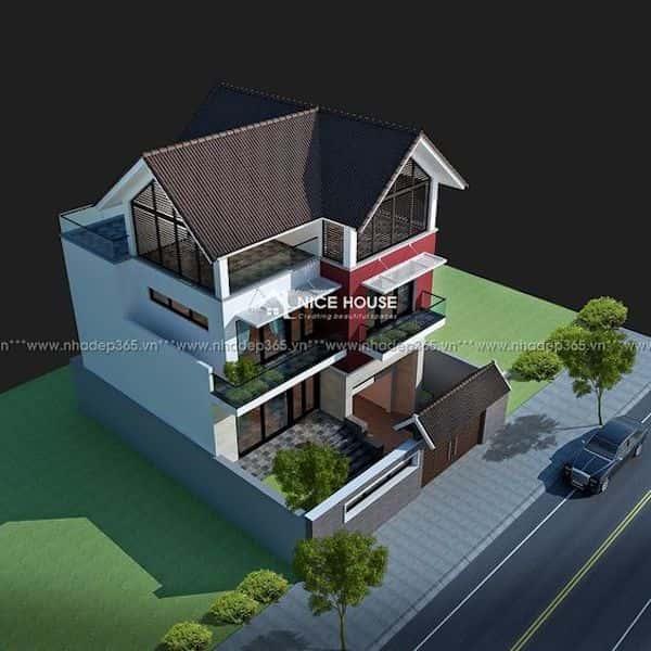 mau nha mai thai 4 - Thiết kế nhà mái thái đẹp