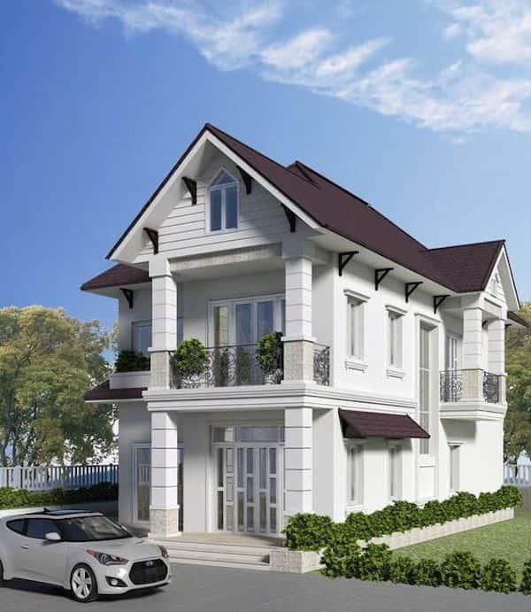 mau nha mai thai 6 - Thiết kế nhà mái thái đẹp
