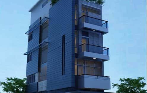 Tư vấn thiết kế nhà 5 tầng với mặt tiền 9m đẹp