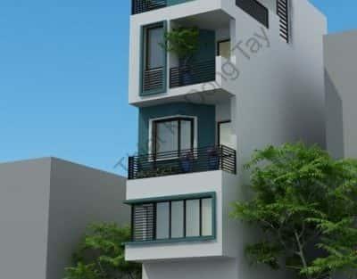 Tư vấn thiết kế nhà 4 tầng mặt tiền 8m đẹp