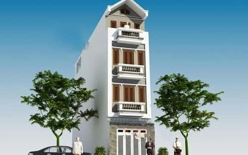 Tư vấn thiết kế nhà 4 tầng mặt tiền 7m đẹp