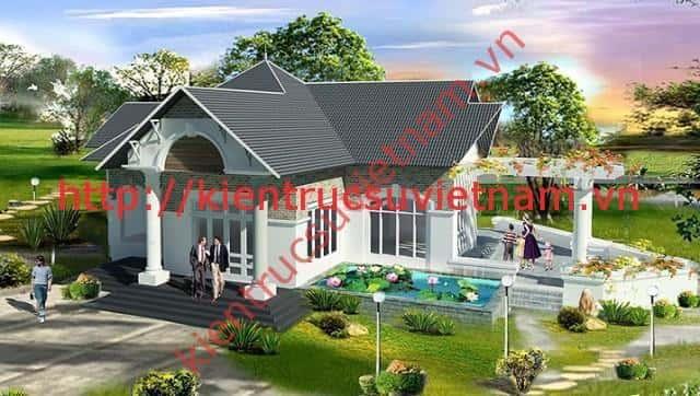mau thiet ke nha tret dep 004 - 25 Mẫu thiết kế nhà đẹp hiện đại nhiều người thích thú