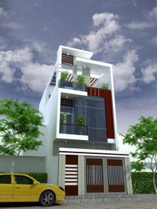 nhà 2 tầng 5x15m dệp 225x300 - Tư vấn thiết kế nhà phố 8x20m với kinh phí 600 triệu