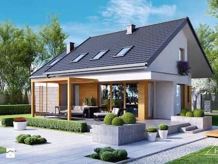 nha 1 tang dep 2a - Thiết kế nhà 1 tầng đẹp diện tích 8.5×24 m