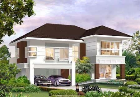 nha 2 tang dep 2 1 - Thiết kế nhà 2 tầng đẹp