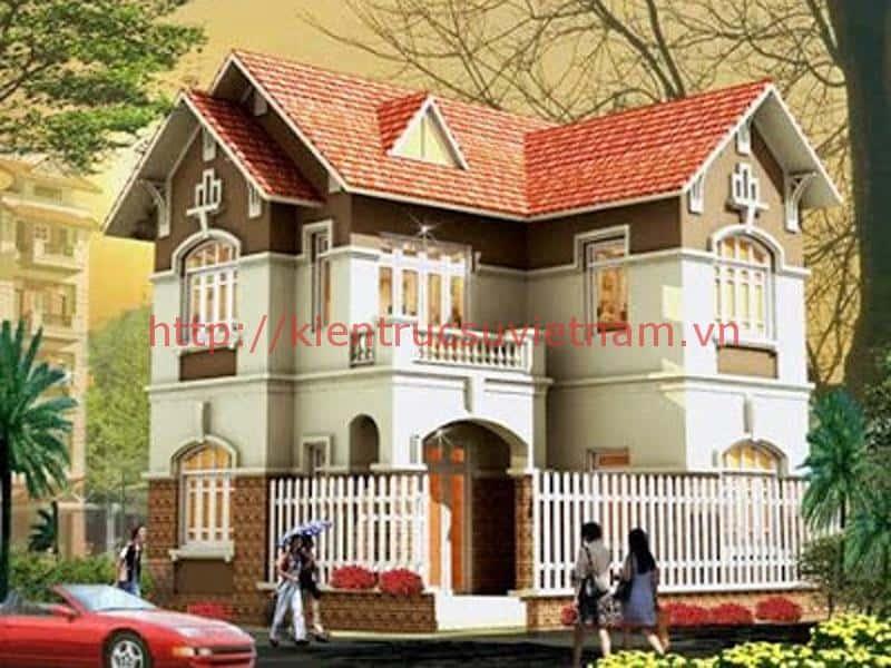 nha 3 tang dep1 - Thiết kế nhà mái thái đẹp